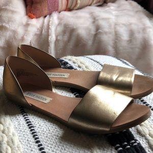 """Steve Madden gold slip """"sidestep""""  sandals"""